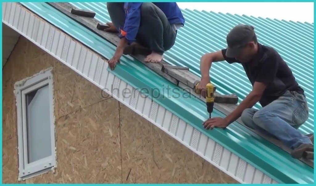 как крепить ветровики на крышу дома